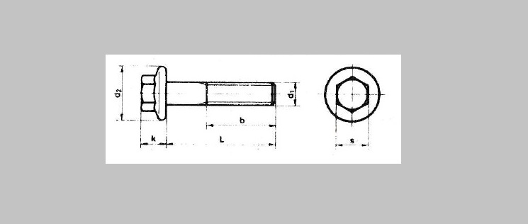 Hex Flange Bolts Non-Serrated [DIN 6921]