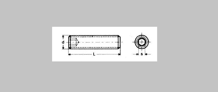 Flat Point Socket Set Screws [DIN 913]