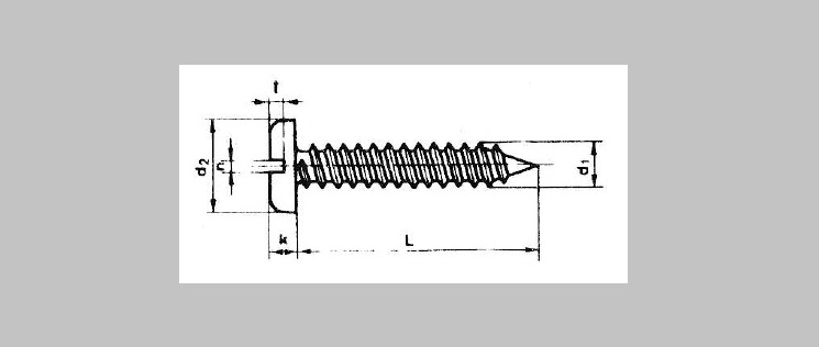 Slotted Pan Head SMS [DIN 7971C]